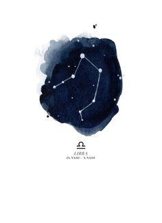 Zodiac Constellation - Libra Art Print