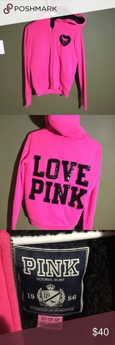 Hot Pink Hoodie Hot Pink hoodie with faux fur. Vey comfy and warm for any cold day 😀 Jackets & Coats