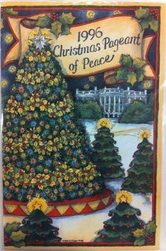 Each year since the first Christmas Proclamation by President Calvin Coolidge in 1923, the White House has been bedecked with holiday cheer in the form of boughs, berries, trees, treats and wonderful Christmas cheer.   The public is invited to view the decorations and a program is issued each year to identify the many artists, artisans, and public support for each public room of the White House.  This program is from 1996.
