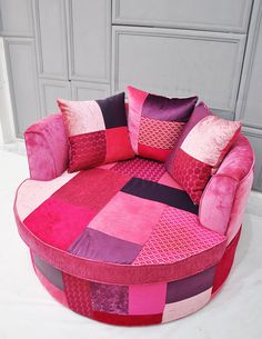 Custom order  round patchwork armchair by namedesignstudio on Etsy, $1950.00