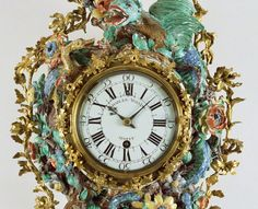 Wall Clock (Pendule d'alcove), about 1740, movement by Charles Voisin, clockmaker; clock case made at the Chantilly Porcelain Manufactory.