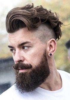 Corte de cabelo masculino com degradê bem baixo (ou skin fade). #vikinghairstyles