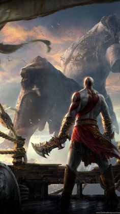 god of war concept art artwork chains blades kratos god of war ascension wallpaper Kratos God Of War, Illustrator, Nerd, Gaming Wallpapers, Monster Art, Greek Mythology, Game Art, Fantasy Art, Concept Art