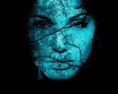 Angel and Demon Blue Face by Meronol on DeviantArt Turquoise, Aqua, Teal, Dramatic Arts, Angels And Demons, Blue Art, New Media, Art Forms, Art Images