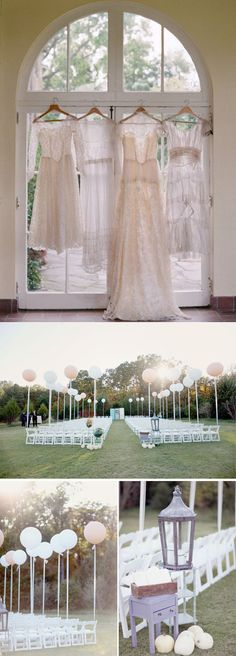 Balloons for wedding ceremony decor.
