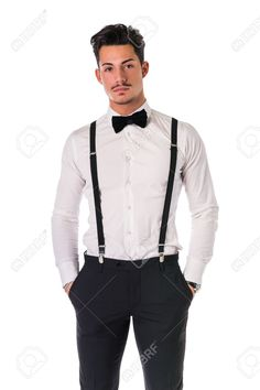 Handsome Elegant Young Man With Business Suit, Suspenders, Isolated.. Stock Photo, Picture And Royalty Free Image. Image 42666734.