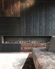 vosgesparis: Black walls and a fire place at home | Masterplan 2.0 #fireplace