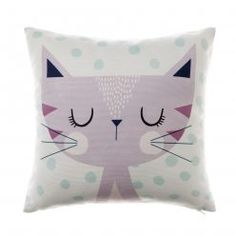 Adairs Kids Animal Buddy Kitty Katie, kids cushion, animal cushion