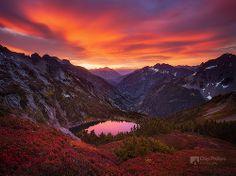 North Cascades Sunrise ~ Sahale Arm (North Cascades National Park).