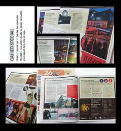 Cahier spécial du Journal 24H / Quartier des spectacles Spectacle, Design Graphique, Journal, Baseball Cards, Notebook, Journals