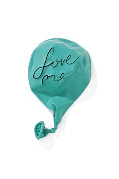 love me turquoise aqua balloon Aqua, Teal, My Favorite Color, My Favorite Things, Typography, Lettering, Tiffany Blue, Love Quotes, Cool Stuff