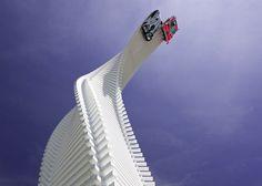 Enzo Mari knife inspires twisting sculpture at Goodwood 2015.