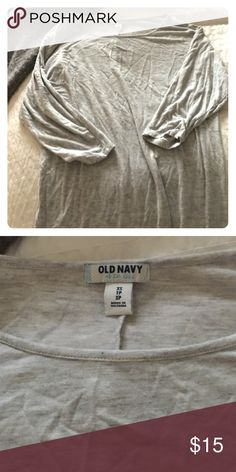 Old Navy Dolman Top Only used once. Size XS. Grayish color. Old Navy Tops