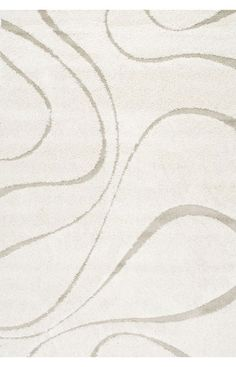 Venice Shaggy Curves Cream Rug | Contemporary Rugs #RugsUSA