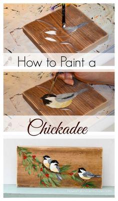Learn How to Paint a Chickadee, FlowerPatchFarmhouse.com