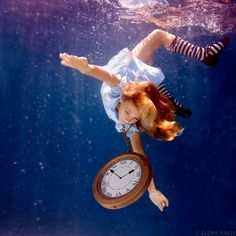 Alice in Wonderland underwater photography. So. Cool.