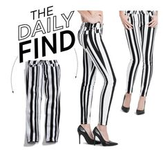 """The Daily Find: Guess Striped Denim"" by polyvore-editorial on Polyvore"
