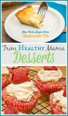 Trim Healthy Mama style Strawberry Cupcakes with Cream Cheese Frosting - The Coers Family, thm S