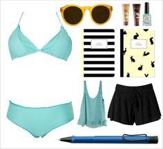 Tomando Notas En El Sol Que hay mejor que un día soleado y una playa tranquila para relajarse e inspirarse. Este outfit lleno de color y frescura es ideal para sentarse a tomar notas en una playa paradisiaca y disfrutar del paisaje.