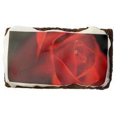 Glowing red rose brownie