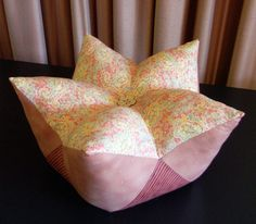 Finished Star Fruit Cushion - Tutorial by Matching Pegs