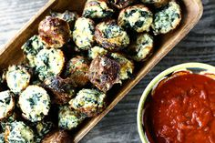 Cheesy Spinach Puffs. The ultimate snack. Healthy AND delicious!