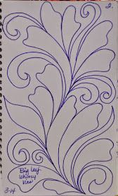 I like to warm up  before I begin     sketching or stitching...       My warm up design  is usually a     feather or leafy vine  lik...