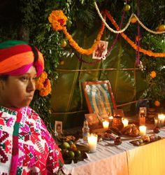 'Xantolo' celebración de muertos en la Huasteca. San Luis Potosí, México.