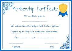 Free Life Membership Certificate Templates  Free Membership