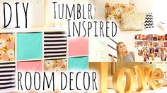 DIY Room Decor & Organization Inspired by Tumblr! | Aspyn Ovard Try doing this, this year with pictures