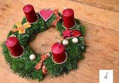 Weihnachtskranz rot