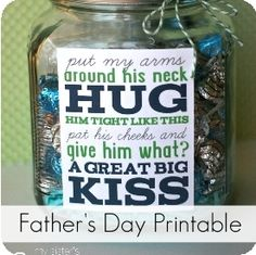 Father's Day Gift {Treat Jar} + Printable