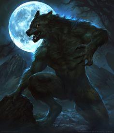 Worok - Card Art, Manthos Lappas on ArtStation <<< neat Dark Fantasy Art, Fantasy Wolf, Fantasy Creatures, Mythical Creatures, Fenrir Tattoo, Arte Lowrider, Werewolf Art, Skyrim Werewolf, Alpha Werewolf
