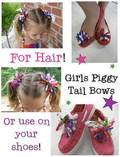 befa5202ec9b42 Korker bows for hair piggy tails or adorable CUTE shoe bows!