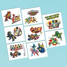 Check out Power Rangers Dino Charge Tattoo Favors (16 Pack) - Bargain Individual…