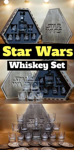 Star Wars Whiskey Decanter Sets  - Star Wars Gifts #starwars #whiskey #wine...
