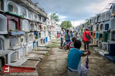 Our official photographer, France Villamor, visited a cemetery in Cebu to feature amazing scenery on how Cebuanos celebrate Undas Tarpaulin Design, Cebu, Cemetery, Philippines, Scenery, Street View, France, Holidays, Amazing