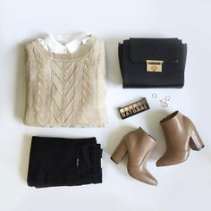 """""""<neutral perfection> #ootd #fall #chic #outfitgrid #nyxcosmetics #LOVELULUS _________________________  tap link in profile to shop."""""""