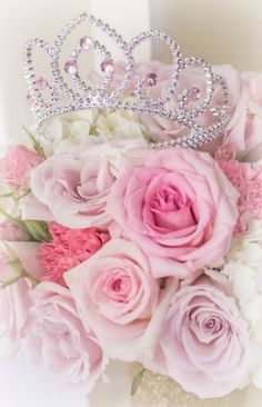 every princess needs a crown...and roses ~Debbie Orcutt ❤