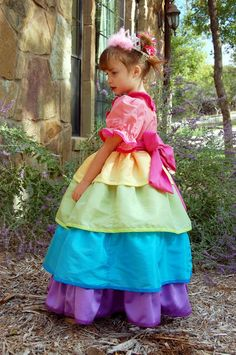 Scattered Thoughts of a Crafty Mom: Rainbow Princess Dress