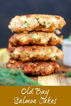 Old Bay Salmon Cakes feature diced chunks of fresh salmon and the bold bite of Old Bay Seasoning Finished with a creamy avocado mash topping these patties are perfect for. Fish Recipes, Seafood Recipes, Dinner Recipes, Cooking Recipes, Healthy Recipes, Potato Recipes, Meat Recipes, Pasta Recipes, Crockpot Recipes