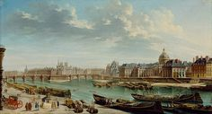 An article on PROSTITUTION IN 18TH CENTURY PARIS. A View of Paris With the Île de la Cité, 1763.
