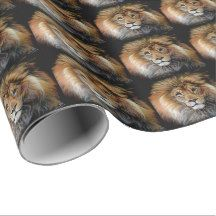 BOLD LION Wrapping Paper