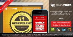 FancyFood - Responsive Email Template With Builder