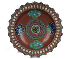 China 20. Jh. Emaille Becken - A Chinese Cloisonné Enamel basin - Cinese Chinois