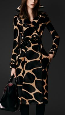 Animal Print Calfskin Trench Coat | Burberry Porsum.