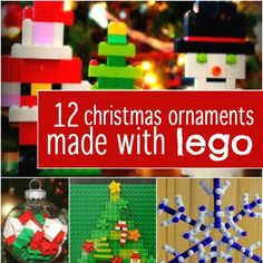 your boys think they're too old for Christmas crafting fun? They'll love these Lego Christmas ornament ideas and so will you! Lego Christmas Ornaments, Christmas Hanukkah, Christmas Crafts, Christmas Ideas, Lego Tree, Lego Advent Calendar, How To Make Ornaments, Diy Ornaments, Legos
