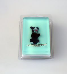 Come Clean Boston Terrier Glycerin Soap Bar by shopheydoyou