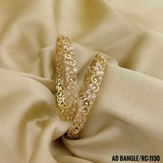 Rama Creations Manufacturer & Wholesalers of Artificial Wedding Jewellery in India. Gold Bangles Design, Gold Earrings Designs, Gold Jewellery Design, Designer Bangles, Designer Jewelry, Necklace Designs, Gold Bangle Bracelet, Gold Bracelets, Rose Gold Bangles