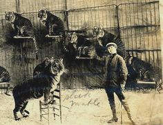 Mabel Stark was one of the earliest tiger trainers and most famous during her era.